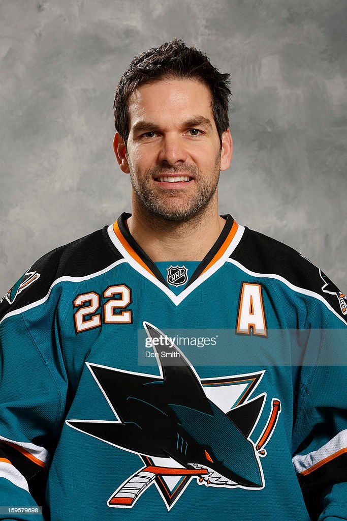 Dan Boyle #22 of the San Jose Sharks poses for his official headshot for the 2012-13 season on January 13, 2013 at Sharks Ice in San Jose, California.