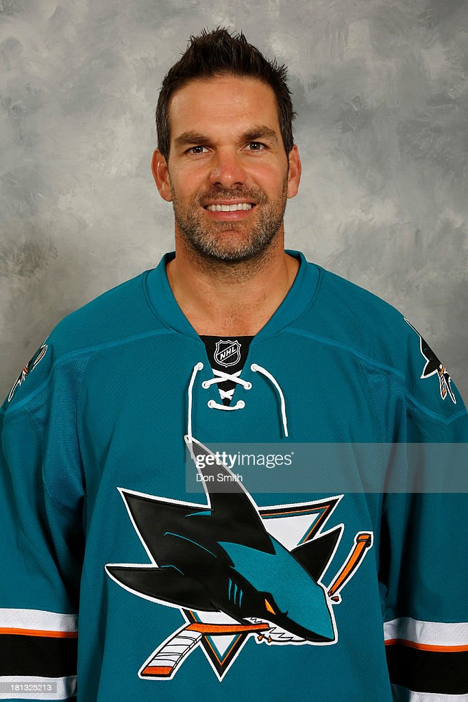 <a gi-track='captionPersonalityLinkClicked' href=/galleries/search?phrase=Dan+Boyle&family=editorial&specificpeople=201502 ng-click='$event.stopPropagation()'>Dan Boyle</a> of the San Jose Sharks poses for his official headshot for the 2013-14 season on September 11, 2013 at SAP Center in San Jose, California.