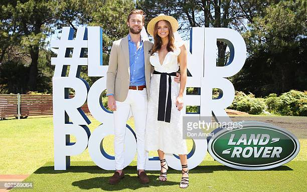 Dan Bragg and Ksenija Lukich arrive at Polo In The City at Centennial Park on November 12 2016 in Sydney Australia