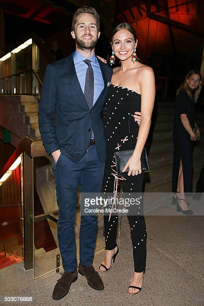 Dan Bragg and Ksenija Lukich during the Oscar de la Renta after party presented by Etihad Airways at MercedesBenz Fashion Week Resort 17 Collections...