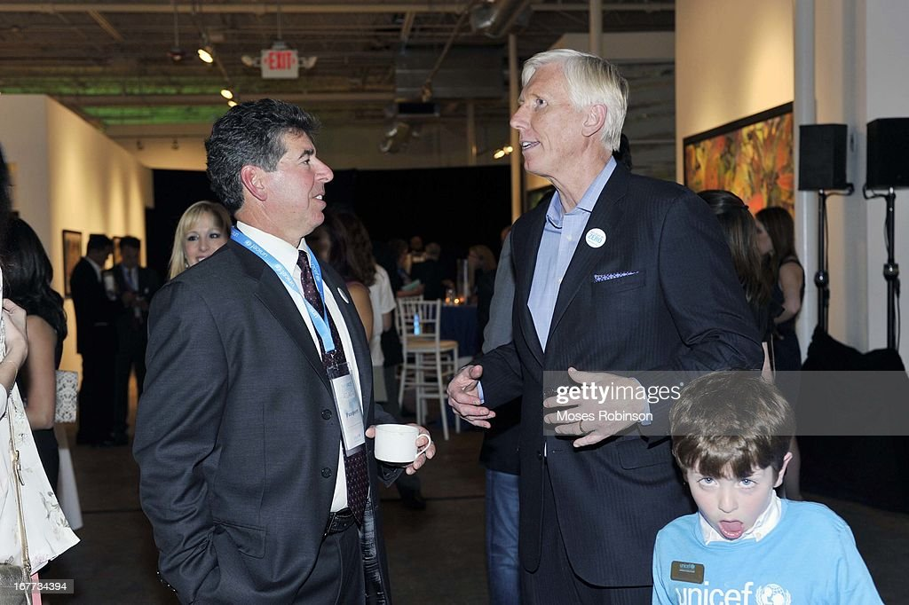 Dan Brutto and Robert Thompson attend The UNICEF Experience at Mason Murer Fine Art Gallery on April 28, 2013 in Atlanta, Georgia.