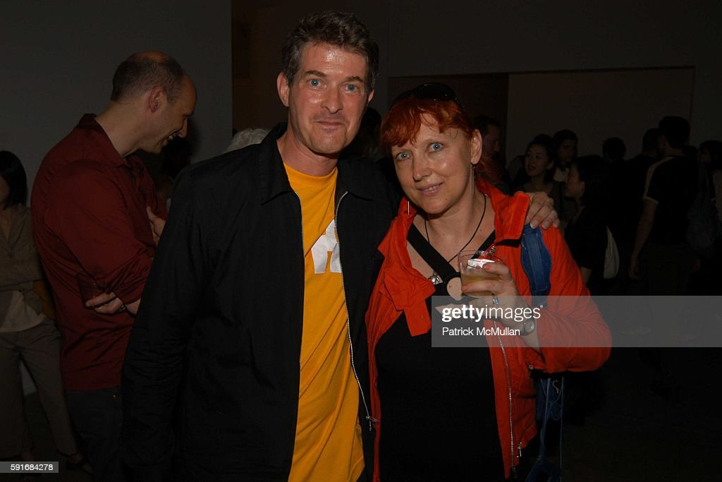 Dan Cameron and Magda Sawon attend New Museum Hosts Opening Reception for Aernout Mik's Refraction Rhizome Artbase 101 at New Museum Of Contemporary...