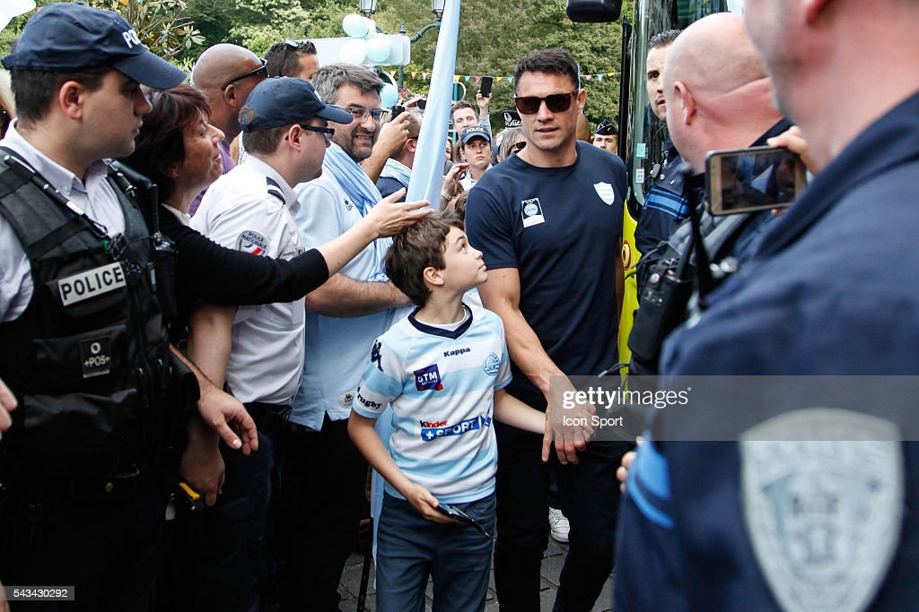 Dan Carter of Racing 92 during the presentation Trophy Top 14 - Racing92 at Mairie de Plessis Robinson on June 28, 2016 in Plessis Robinson, France.