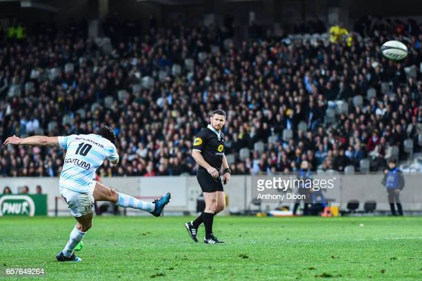 Dan Carter of Racing 92 during the Top 14 match between Racing 92 and Clermont Auvergne at Stade PierreMauroy on March 25 2017 in Lille France