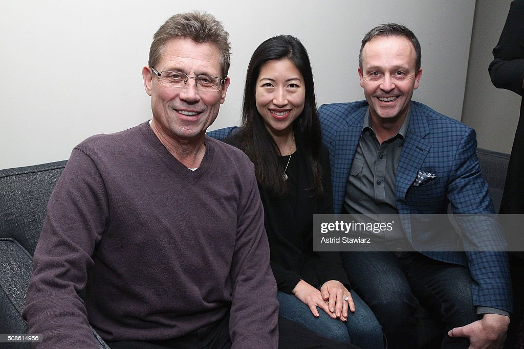 Dan Caspersen, May Yoon, and Ted Hogan attend an intimate evening of friends and colleagues at Mr. Colin Dougherty's New York City apartment on February 5, 2016 in New York City.