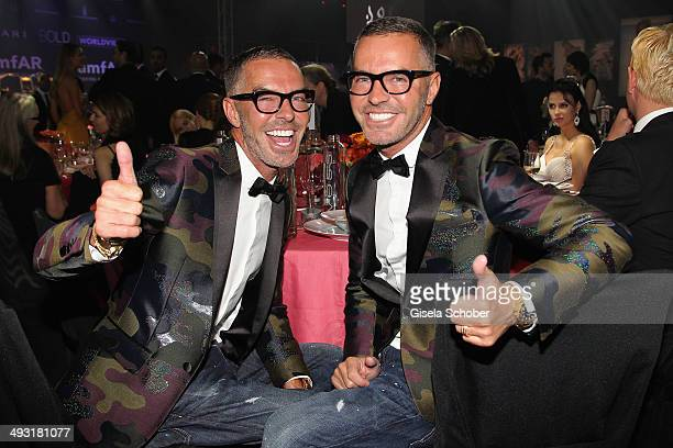 Dan Caten and Dean Caten attend amfAR's 21st Cinema Against AIDS Gala Presented By WORLDVIEW BOLD FILMS And BVLGARI at Hotel du CapEdenRoc on May 22...