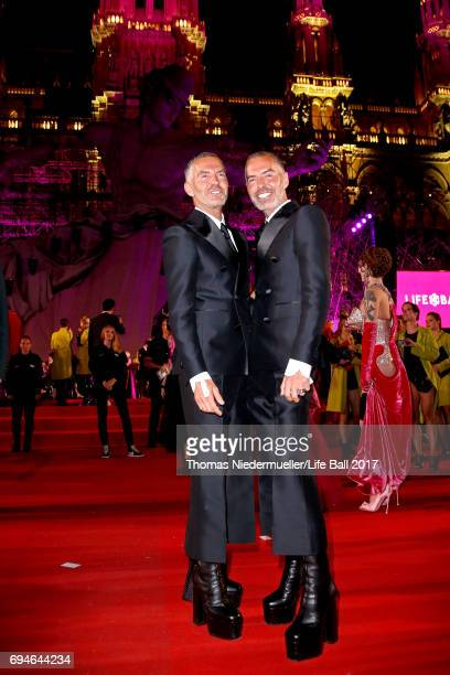 Dan Caten and Dean Caten attend the Life Ball 2017 Gala Dinner at City Hall on June 10 2017 in Vienna Austria