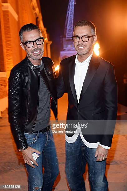 Dan Caten and Dean Caten attends Diesel FW14 Collection Presentation Show at Tese di San Cristoforo on April 3 2014 in Venice Italy