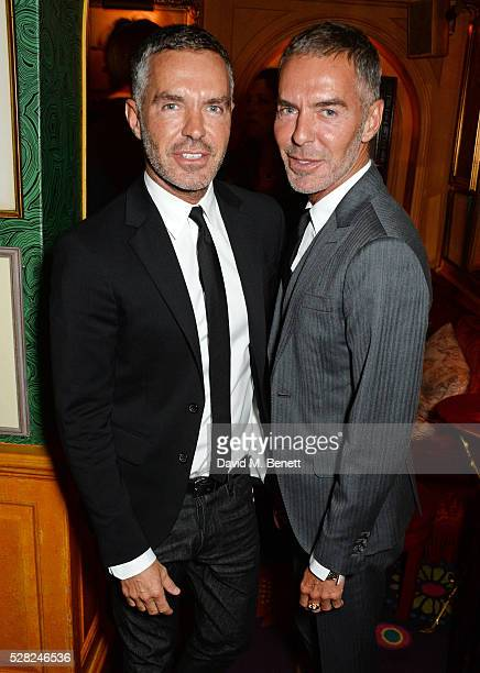 Dan Caten and Dean Caten of DSquared2 attend an intimate performance by All Saints at Annabel's on May 4 2016 in London England