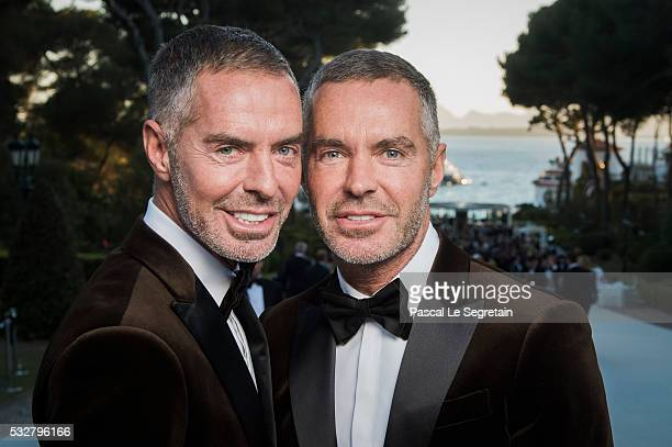 Dan Caten and Dean Caten pose for photographs at the amfAR's 23rd Cinema Against AIDS Gala at Hotel du CapEdenRoc on May 19 2016 in Cap d'Antibes...