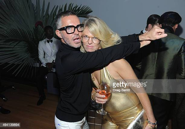 Dan Caten and Madeline Weeks attend as Dean and Dan Caten celebrate their one year US retail anniversary with a private party at The Halston House on...