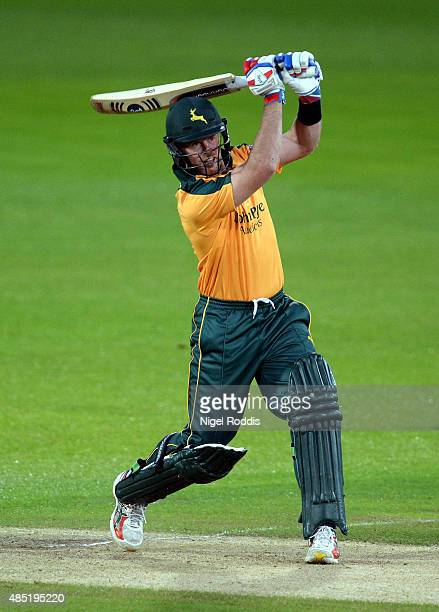 Dan Christian of Nottinghamshire plays a shot during the Royal London OneDay Cup Quarter Final between Nottinghamshire and Durham at Trent Bridge on...