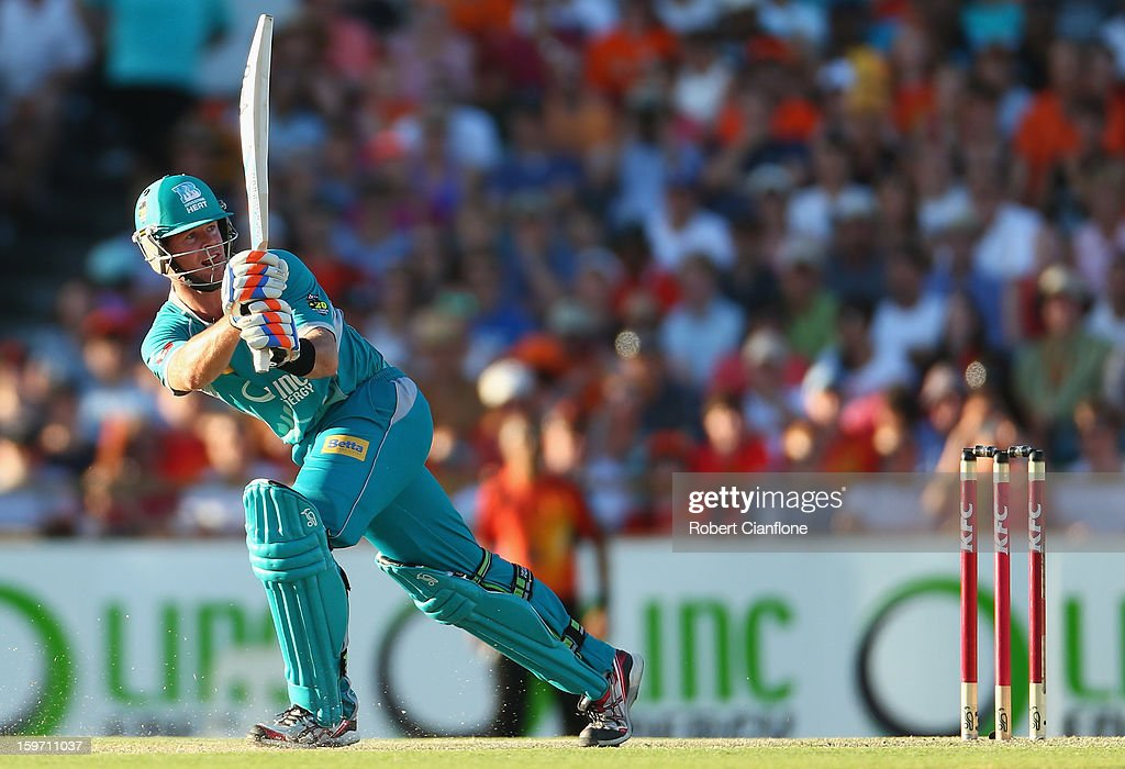 Dan Christian of the Heat bats during the Big Bash League final match between the Perth Scorchers and the Brisbane Heat at the WACA on January 19, 2013 in Perth, Australia.