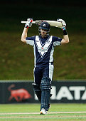 Dan Christian of Victoria shows his frustration during the Matador BBQs One Day Cup Elimination Final match between Victoria and South Australia at...