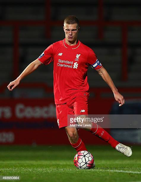 Dan Cleary of Liverpool in action during the Barclays U21 Premier League match between Tottenham Hotspur U21 and Liverpool U21 at The Lamex Stadium...