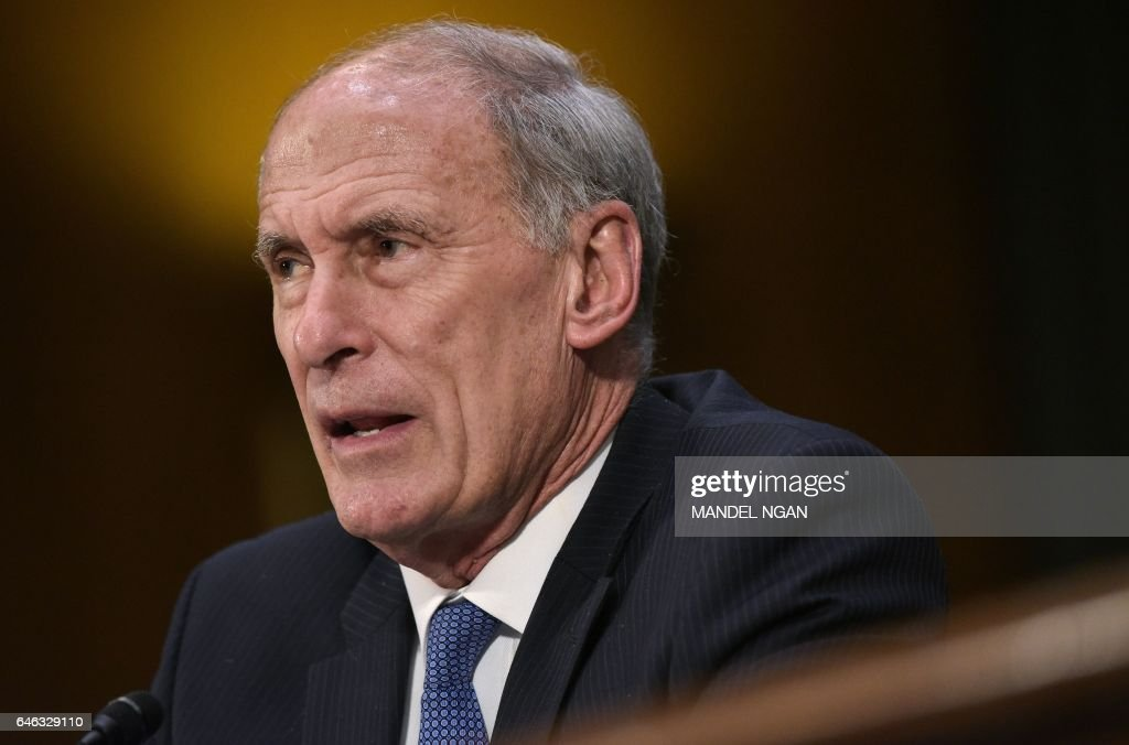 Dan Coats testifies before the Senate (Select) Intelligence Committee on his nomination to be the next director of national intelligence in the Dirksen Senate Office Building on February 28, 2017 on Capitol Hill in Washington, DC. / AFP / MANDEL