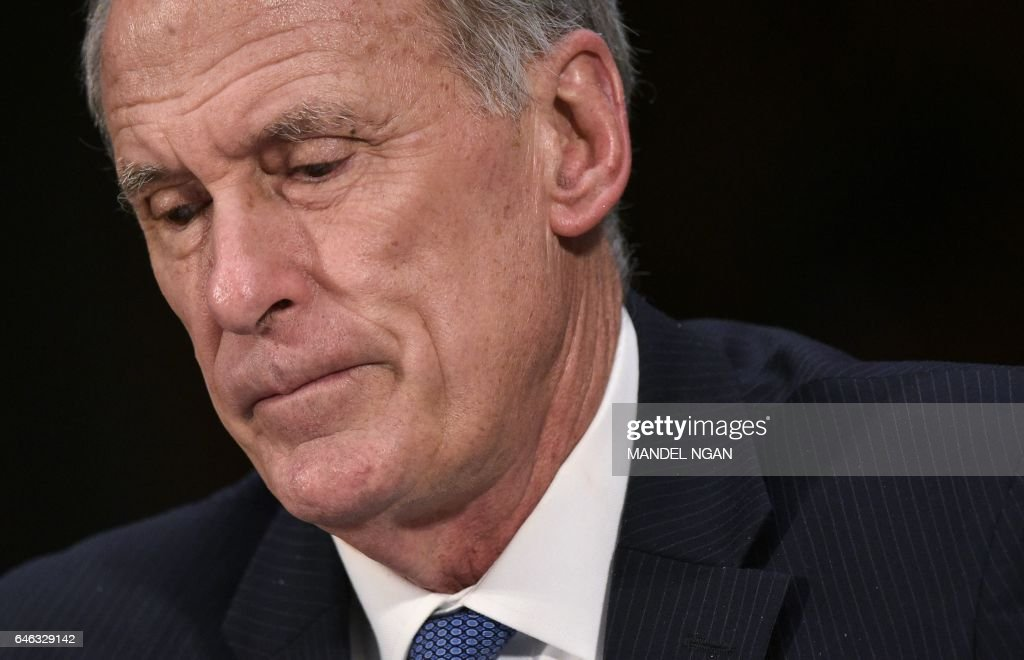 Dan Coats testifies before the Senate (Select) Intelligence Committee on his nomination to be the next director of national intelligence in the Dirksen Senate Office Building on February 28, 2017 on Capitol Hill in Washington, DC. / AFP / Mandel Ngan