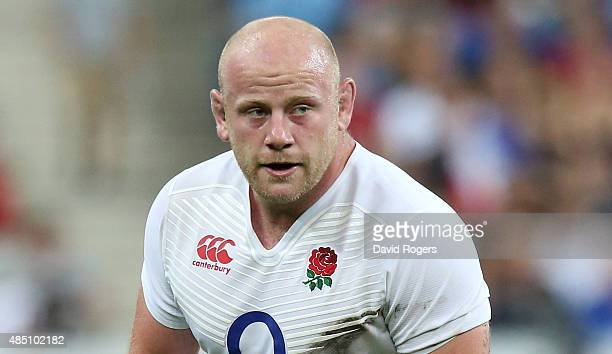 Dan Cole of Engalnd looks on during the International match between France and England at Stade de France on August 22 2015 in Paris France