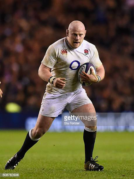 Dan Cole of England in action during the RBS Six Nations match between Scotland and England at Murrayfield Stadium on February 6 2016 in Edinburgh...