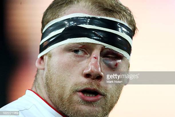 Dan Cole of England is pictured during the Cook Cup Test Match between the Australian Wallabies and England at ANZ Stadium on June 19 2010 in Sydney...
