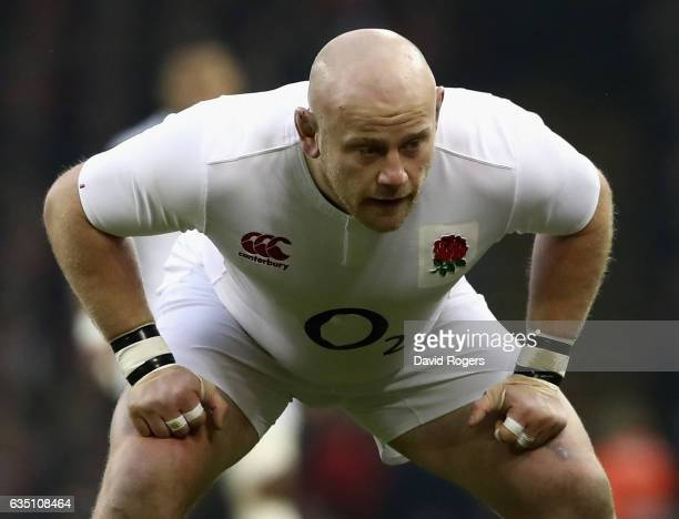 Dan Cole of England looks on during the RBS Six Nations match between Wales and England at the Principality Stadium on February 11 2017 in Cardiff...