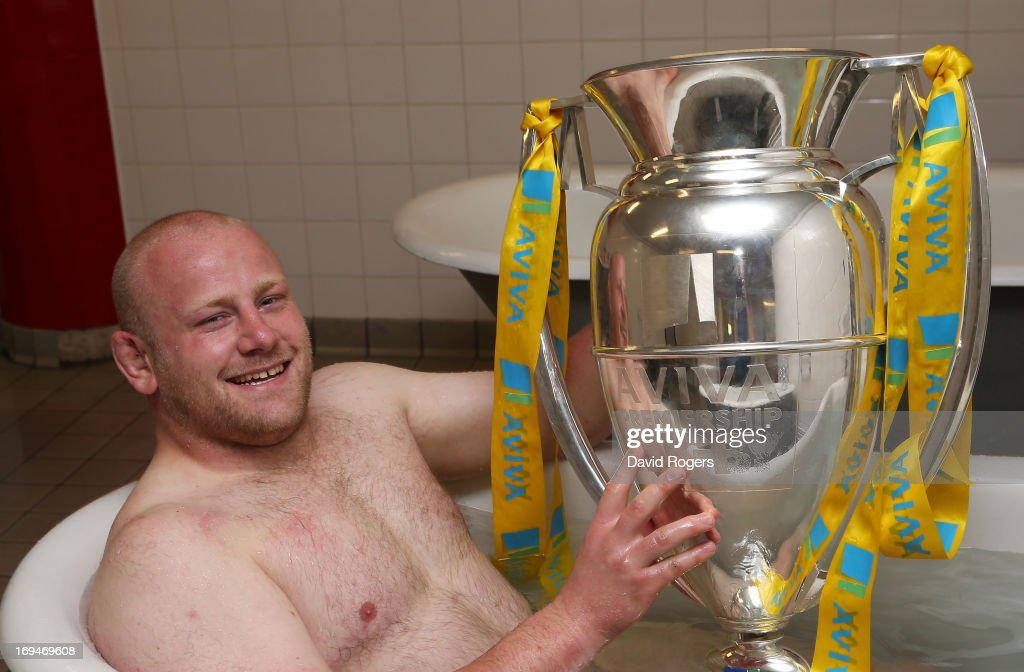 <a gi-track='captionPersonalityLinkClicked' href=/galleries/search?phrase=Dan+Cole&family=editorial&specificpeople=4166468 ng-click='$event.stopPropagation()'>Dan Cole</a> of Leicester poses with trophy following his team's 37-17 during the Aviva Premiership Final between Leicester Tigers and Northampton Saints at Twickenham Stadium on May 25, 2013 in London, England.