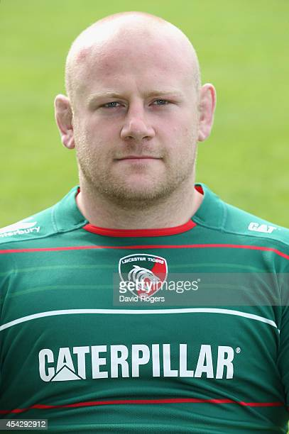Dan Cole of Leicester Tigers poses for a portrait at the photocall held at Welford Road on August 28 2014 in Leicester England