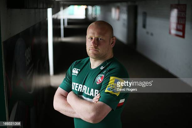 Dan Cole of Leicester Tigers poses for a portrait at Welford Road on May 17 2013 in Leicester England