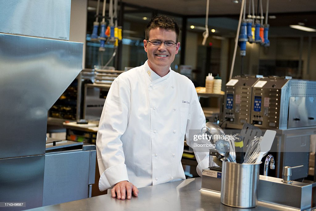 Dan Coudreaut, executive chef and director of culinary innovation for McDonald's Corp., stands for a photograph in a test kitchen at McDonald's headquarters in Oak Brook, Illinois, U.S., on Tuesday, July 23, 2013. Coudreaut graduated from the Culinary Institute of America at the top of his class, ran the kitchen at the Four Seasons Resort and Club in Dallas and joined McDonalds in 2004. Photographer: Daniel Acker/Bloomberg via Getty Images