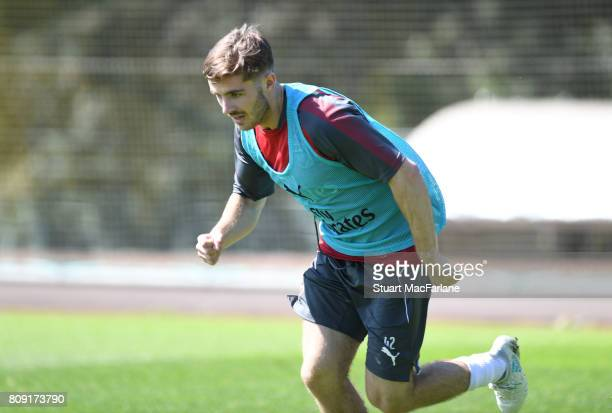 Dan Crowley of Arsenal during a training session at London Colney on July 5 2017 in St Albans England