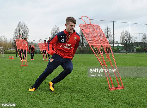 Dan Crowley of Arsenal the U19 team during their training session at London Colney on February 8 2016 in St Albans England