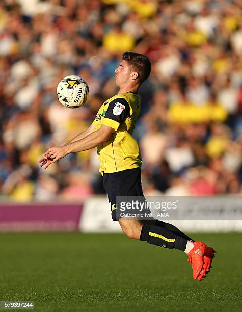 Dan Crowley of Oxford United during the PreSeason Friendly match between Oxford United and Leicester City at Kassam Stadium on July 19 2016 in Oxford...