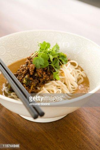 dan dan noodles : Stock Photo