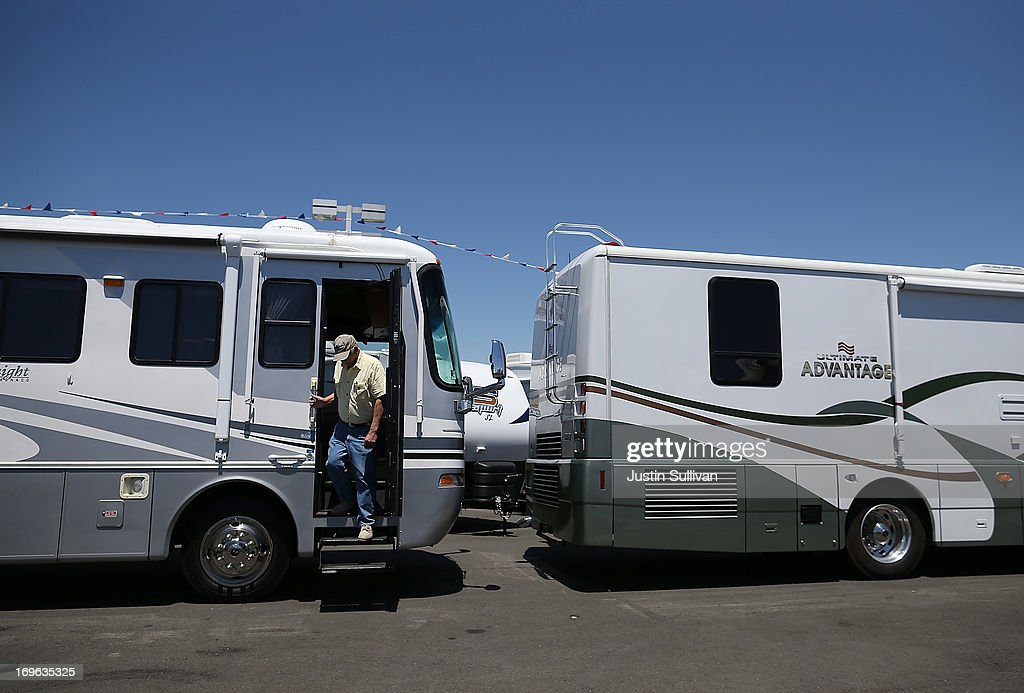 Dan Daniel steps out of an RV at Cordelia RV on May 29, 2013 in Fairfield, California. Deliveries of motor homes and towable RVs to dealers surged 11 percent in the first quarter and the RV industry anticipates a total of 307,300 units will be shipped this year, the highest number since 2007.