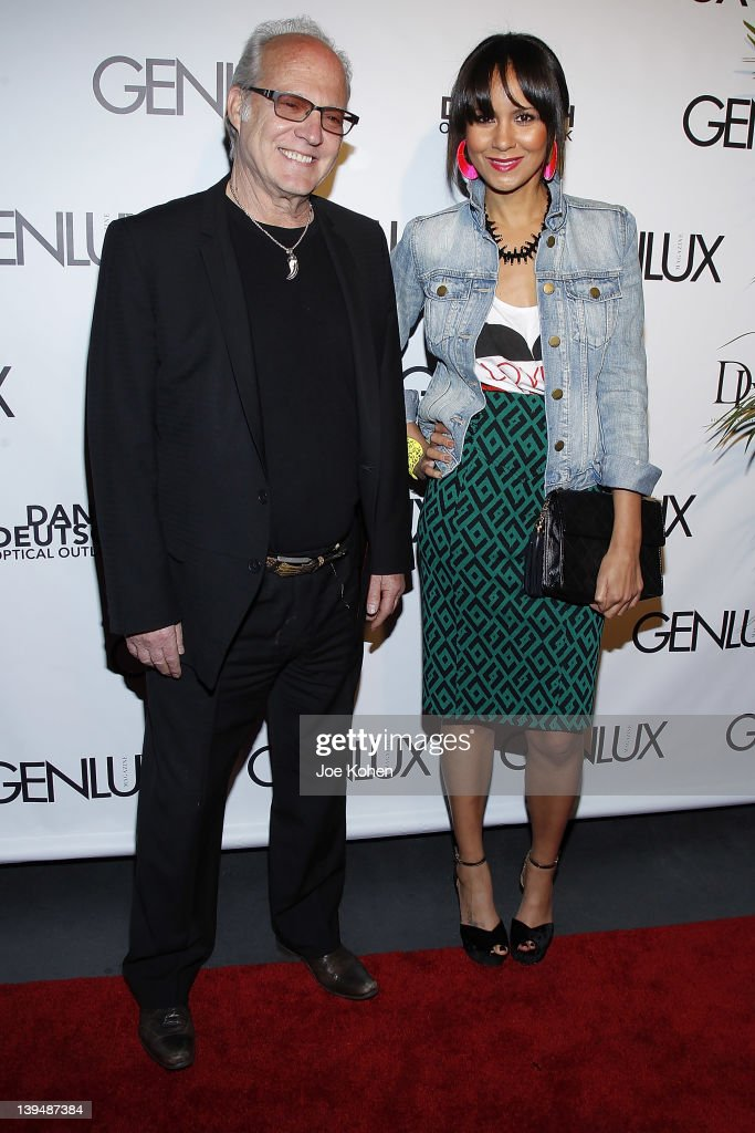 Dan Deutch and actress Taye Hansberry attend the Night Of 'BB Forever: Brigitte Bardot, The Legend' at Sofitel Hotel on February 21, 2012 in Los Angeles, California.
