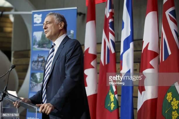 Dan Doctoroff chief executive officer of Sidewalk Labs LLC speaks during an event in Toronto Ontario Canada on Tuesday Oct 17 2017 Sidewalk Labs LLC...