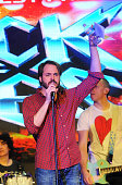 Dan Domenech performs at the 'Rock Of Ages' Broadway Cast Reunion Concert at Highline Ballroom on January 25 2016 in New York City