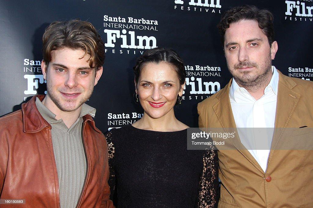 Dan Dreyfuss Antonia Zegers and Pablo Larrain attend the 28th Santa Barbara International Film Festival 'No' premiere held at Lobero Theatre on...