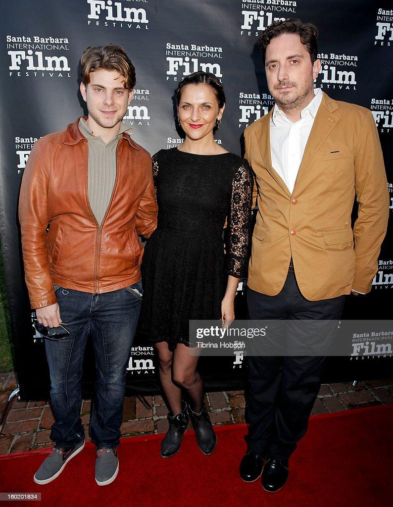 Dan Dreyfuss Antonia Zegers and Pablo Larrain attend the 28th Santa Barbara International Film Festival 'No' premiere at Lobero Theatre on January 26...