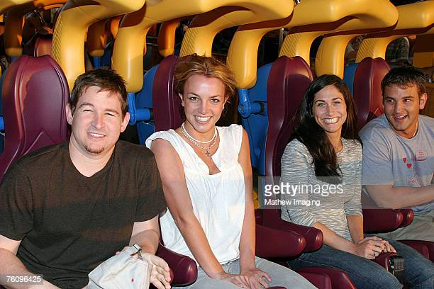 Dan Dymtrow Britney Spears Lauren Melkus and Bryan Spears at Six Flags Magic Mountains' newest ride 'Scream' *Exclusive Call for Pricing*