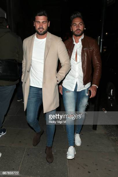 Dan Edgar and Mario Falcone attend James Ingham's JogOn to Cancer part 5 at Kensington Roof Gardens on April 12 2017 in London England