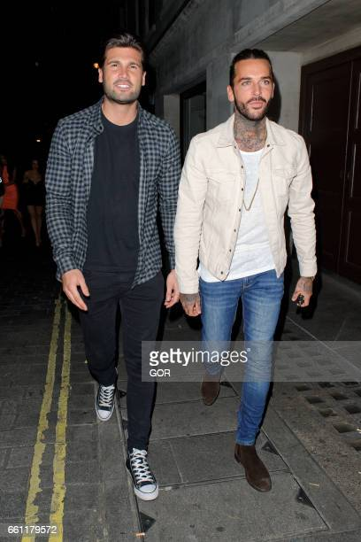 Dan Edgar and Pete Wicks sighting at Aristocats Mayfair on March 30 2017 in London England