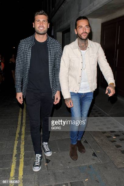 Dan Edgar Pete Wicks sighting at Aristocats nightclub Mayfair on March 30 2017 in London England