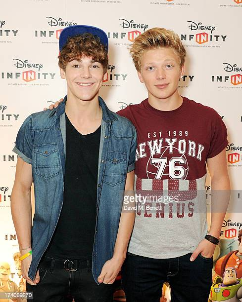 Dan FerrariLane and Greg West of District 3 attend an exclusive launch event for upcoming videogame 'Disney Infinity' released nationwide on August...