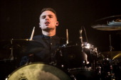 Dan Flint of You Me At Six performs on stage at Nottingham Capital FM Arena on April 3 2014 in Nottingham United Kingdom