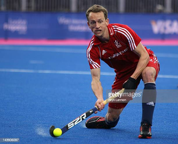 Dan Fox of Great Britain in action during the Men's preliminary match between Australia and Great Britain during the Visa International Invitational...