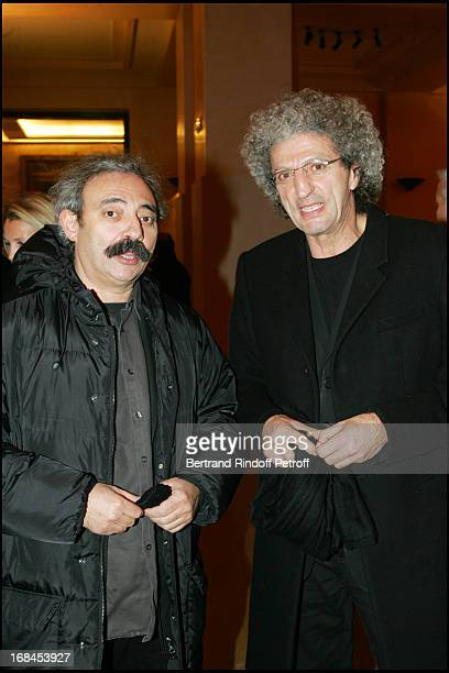Dan Franck and Elie Chouraqui at 100th Episode Of 'Campus' Of Guillaume Durant At Le Cafe De L'Homme Restaurant At The Trocadero