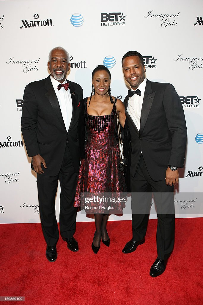 Dan Gasby, B. Smith and AJ Calloway attend the Inaugural Ball hosted by BET Networks at Smithsonian American Art Museum & National Portrait Gallery on January 21, 2013 in Washington, DC.