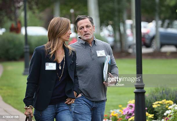 Dan Gilbert founder and chairman of Rock Ventures and Quicken Loans attend the Allen Company Sun Valley Conference with Jennifer Gilbert on July 8...