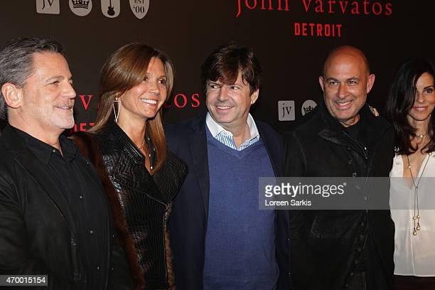 Dan Gilbert Jennifer Gilbert Francois Olivier John Varvatos and Joyce Varvatos attend John Varvatos Detroit Store Opening Party hosted by Chrysler on...